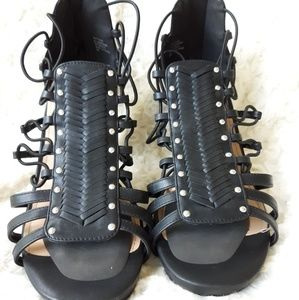 Black Torrid strappy heeled sandals